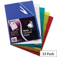 Rexel Nyrex A4 Cut Flush Folder Clear 12153 Pack 25