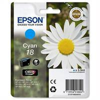 Epson T1802 Inkjet Cartridge Capacity 3.3ml Cyan Ref C13T18024010 C13T18024012