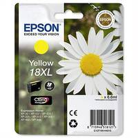 Epson 18XL Yellow Inkjet Cartridge Daisy High Capacity 6.6ml Yellow C13T18144010 C13T18144012