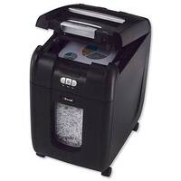 Rexel Auto+ 200X Cross Cut Paper Shredder in Black Security Level 4 - Fast, hands-free operation.  Stack up to 220 sheets of paper inside, close the lid and walk away.  Also shreds credit cards.