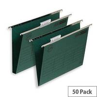 Elba Ultimate Vertical Suspension File 240gsm Manilla 30mm Foolscap Green Ref 100331114 [Pack 50]