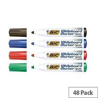 Bic Velleda 1701 Whiteboard Marker Bullet Tip Line Width 1.5mm Assorted Ref 927259 [Pack 48]