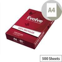 A4 Evolve Everyday Paper Recycled Ream-Wrapped 80gsm White 500 Sheets