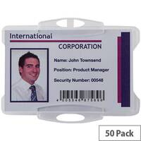 Durable Security Pass Holder without Clip  Pack of 50