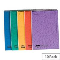 Europa Notemaker Pad Headbound Ruled 80gsm 120 Pages A4 Assorted A Ref 4870Z [Pack 10]