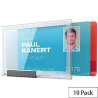 Durable Card Holder PUSHBOX DUO Transparent Pack of 10