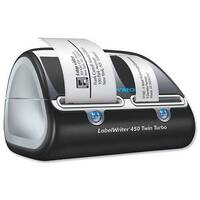 DYMO LabelWriter 450 Twin Turbo - Label printer - thermal paper - Roll (6.2 cm) - 600 x 300 dpi - up to 71 labels/min - capacity: 2 rolls - USB