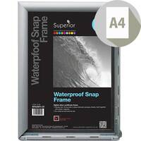 Waterproof A4 W350xD260xH21mm Snapframe PVC Anti-Glare Rubber Seal Cover Includes Screw Kit Silver