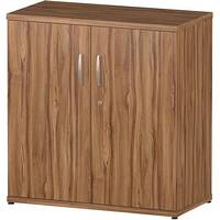 Low Cupboard With 2 Shelves H800mm Walnut