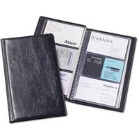 Visifix Business Card Album Fixed Welded Pockets Capacity 72 Dark Blue Ref 2400/01