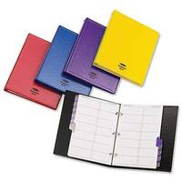 Telephone Address Book Binder Matching A-Z Index and 20 Sheets A5 Black Concord CD6