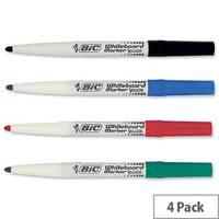 Bic Velleda 1741 White Board Markers Assorted Bullet Tip Wallet 4