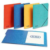 Elba Elasticated File 9 Part Foolscap Yellow Pack 5