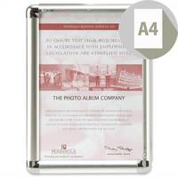 Display Frame Aluminium Front Loading with Fixings A4 Promote-It Photo Album Company
