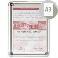 Display Frame Aluminium Front-loading with Fixings A3 Promote-It Photo Album Company