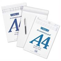 Vestry Accountants Pad 8 Cash Column 80 Leaf A4 Ref CV2064 224756