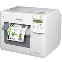 Epson TM-C3500 Desktop Inkjet Label Printer Colour 720x360dpi USB -  Print labels at up to 103mm/sec - Print on a wide variety of media - LCD screen for ink and printer status