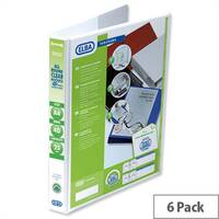 Elba Presentation A4 Ring Binder 25mm Capacity White 4 D-Ring 560310 Pack 6