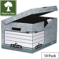 Fellowes Bankers Box System Flip Top Archive Storage Box 01815 Pack 10
