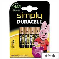 Duracell Simply AAA Alkaline Battery (4 Pack) 81235219