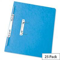 Foolscap Spiral Transfer Spring File Blue 32mm Pack 25 Elba Boston