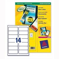 Avery L7263-25 Fluorescent Yellow Promotional Laser Labels 99.1x38.1mm