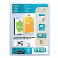 Clear Pockets Display File 40 Pockets Elba Polyvision
