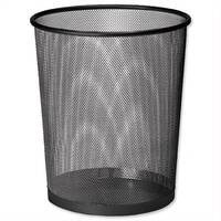 Osco Mesh Black Waste Desk Bin Scratch Resistant 15L