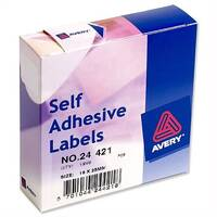 Avery White Label Dispenser 19x25mm 24-421 1200 Labels