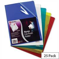 Rexel Nyrex A4 Cut Flush Folder Red Pack 25