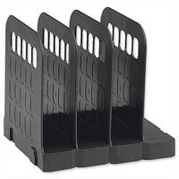 Book Rack Interlocking Base 4 Sections Black Avery Basics