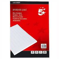 Analysis Pad 8 Cash Column 80 Leaf A4 5 Star