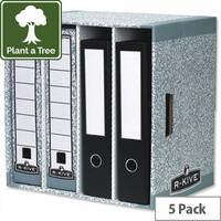 Bankers Box System Lever Arch File Store Fellowes 01840 Pack 5