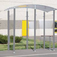 Free Standing Steel Frame Smoking Shelter and Perch Seat