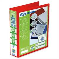Elba Presentation A4 Ring Binder 50mm Capacity Red 4 D-Ring 560331 Pack 4