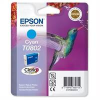 Epson (T0802) Cyan Original Photo Ink Cartridge Capacity 900+ Pages (C13T08024011)