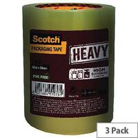 Scotch Heavy Duty 50mmx66m Clear Packaging Tape