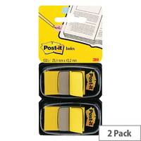 Post-It Index Flag Dispenser Dual Pack Yellow 680-Y2EU
