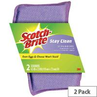Scotch-Brite Stay Clean Scrubber Pack of 2