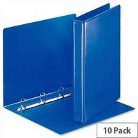 Esselte Presentation Ring Binder A4 Blue 25mm Size 4 D-Ring 600537/49732 Pack 10