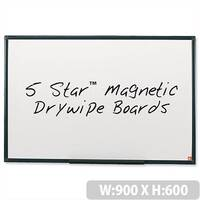 Magnetic Whiteboard 900 x 600mm 5 Star