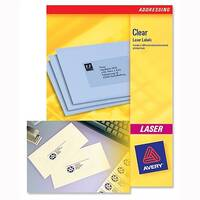 Avery 20 Per Sheet Clear Laser Label (Pack of 500)