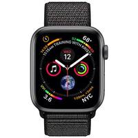 Apple Watch Series 4 (GPS + Cellular) - space grey aluminium - smart watch with sport loop - black - 16 GB