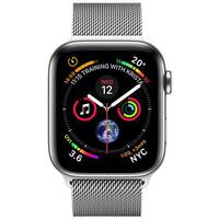 Apple Watch Series 4 (GPS + Cellular) - stainless steel - smart watch with milanese loop - 16 GB - Steel Mesh Band