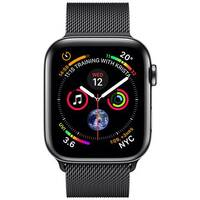 Apple Watch Series 4 (GPS + Cellular) - space black stainless steel - smart watch with milanese loop - space black - 16 GB