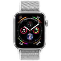 Apple Watch Series 4 (GPS + Cellular) - silver aluminium - smart watch with sport loop - seashell - 16 GB