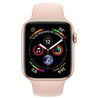 Apple Watch Series 4 (GPS + Cellular) - gold aluminium - smart watch with sport band - pink sand - 16 GB