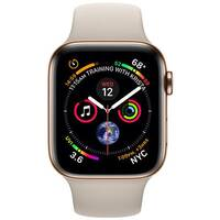 Apple Watch Series 4 (GPS + Cellular) - gold stainless steel - smart watch with sport band - stone - 16 GB