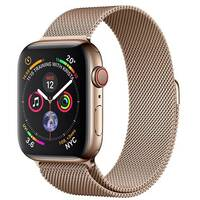 Apple Watch Series 4 (GPS + Cellular) - gold stainless steel - smart watch with milanese loop - gold - 16 GB