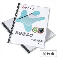 Rexel Eco Punched Pocket Multipunched Long Edge Top Opening A5 2102579 Pack 30